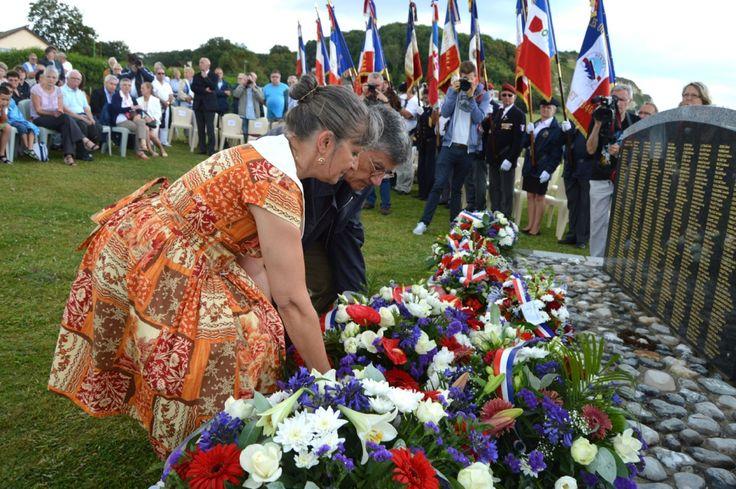 Commémoration du 76e anniversaire du torpillage du Meknès, Saint-Martin-en-Campagne (76370), Seine-Maritime