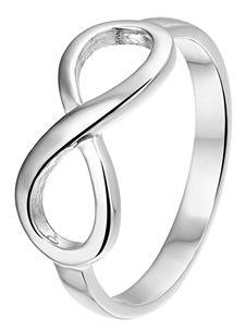 Zilveren ring infinity (1021436) Lucardi, 10,-