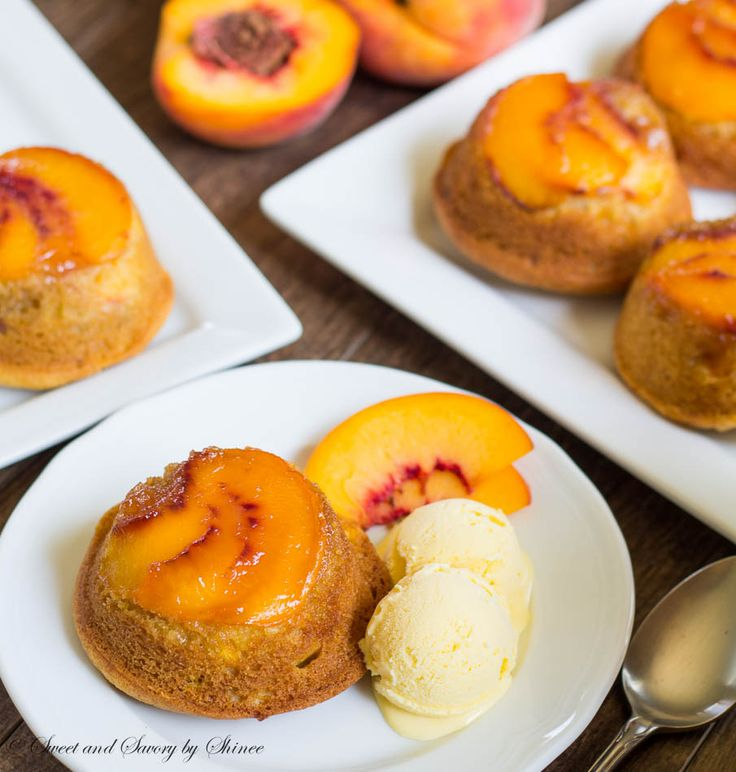 These miniature upside down cakes are individually portioned, and are bursting with peaches in every bite.