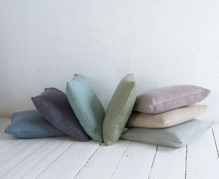 These Scatter cushions are made to order for us by seamstresses in Nottingham in any one of our lovely fabrics. They all come with feather-filled cushion pads included. Nice and simple.
