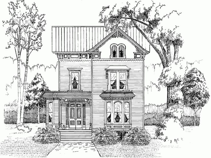 attractive traditional neighborhood design house plans #6: 108 best house plans images on Pinterest | Small house plans, Vintage houses  and House floor plans