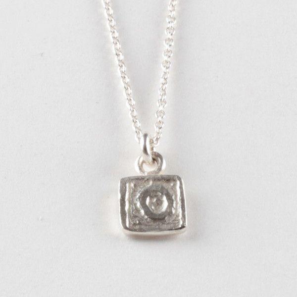 O Tile Pendant - Silver | DARKBLACK $175 NZD