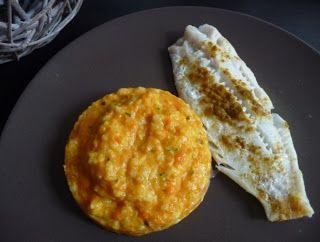 Papilles On/Off: Risotto potiron et lait de coco, cabillaud au curry au thermomix