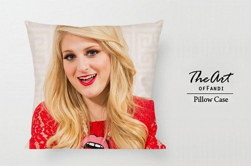 "Meghan Trainor - Custom Square 18""x18"" One Side Pillow Case"