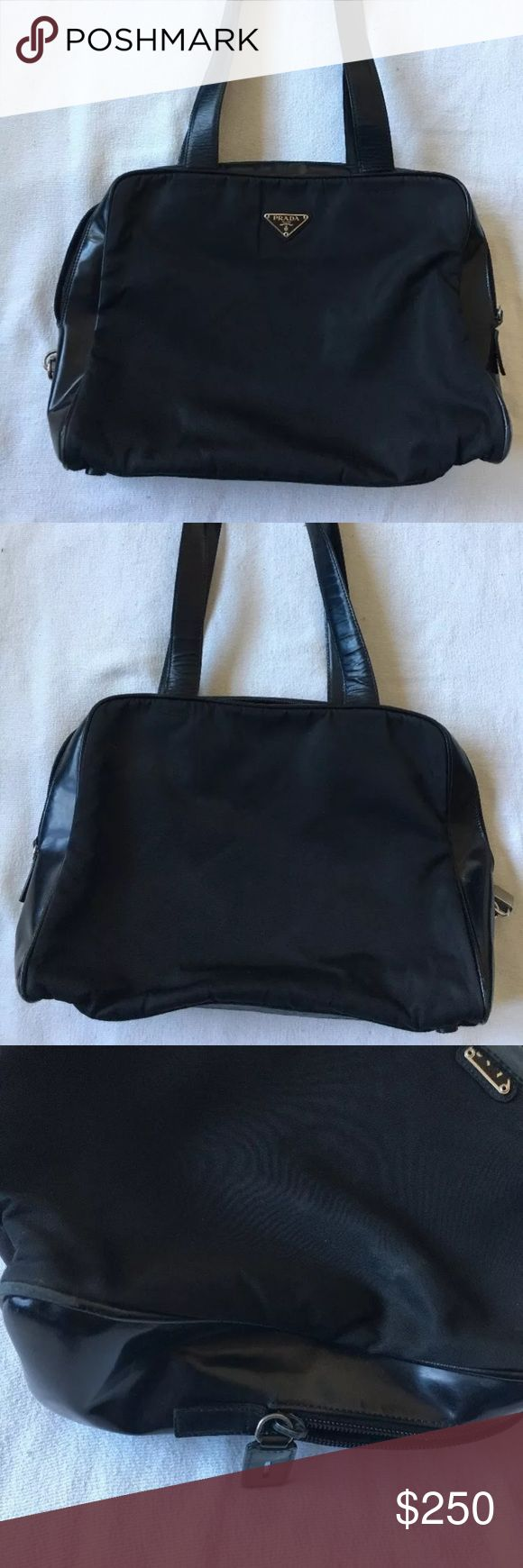 fcdcb2fdc29033 90e41 closeout 30744573456182616051bd095peof0wf8vsch prada black nylon  shoulder bag this is a great bag for holding important items ...