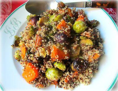 Quinoa w/ Brussels Sprouts, Squash & Grapes | QuinOa ...