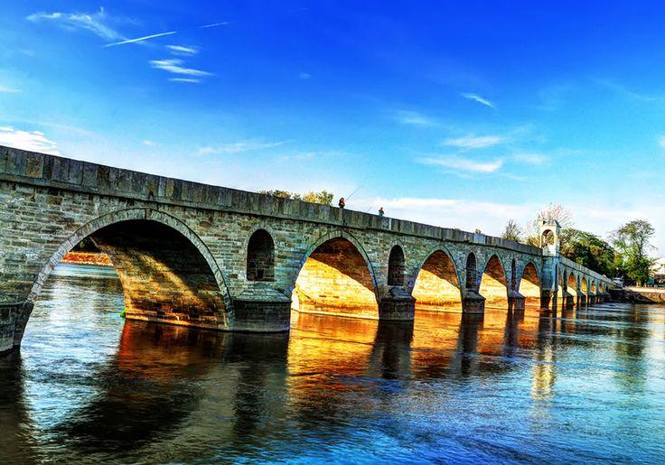 Most na rzece Marica, Edirne, Turcja