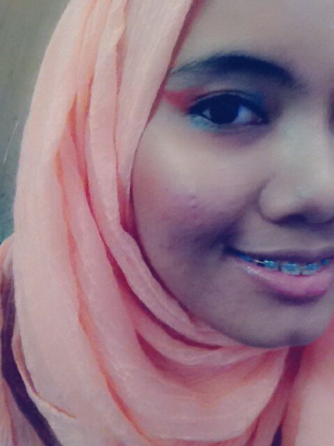 Rainy Season Rainbow Eye Look #asian #beauty #makeup #colours #hijab
