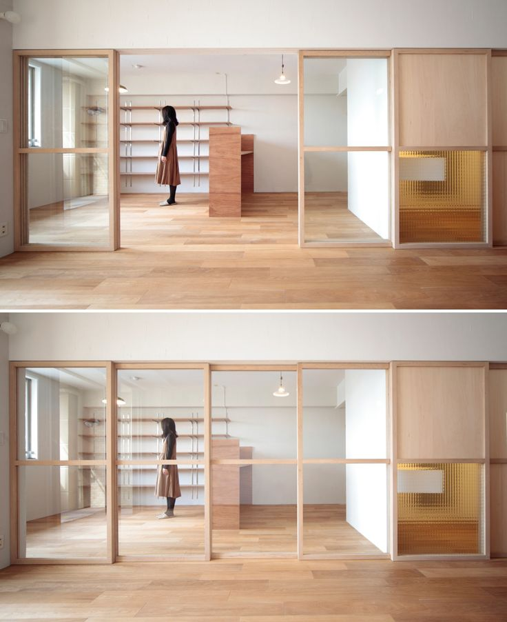 開けることで空間が一体となり閉めると繋がりながらも遮断される Photo:HATTA