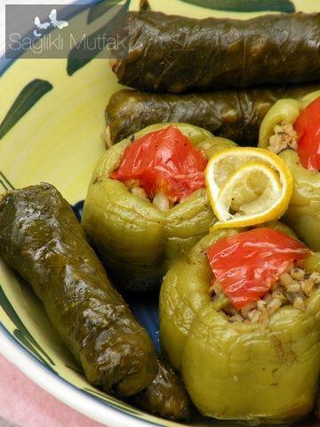 Bulgurlu Zeytinyağlı Biber Dolması – Sağlıklı Mutfak