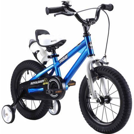 16 RoyalBaby Children Bicycle Blue BMX Freestyle Pulse TIG Welded Steel Frame and Rear Coaster Brake Bike for Boys with Training Wheels