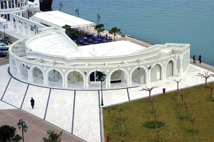 Theatraki (means little theater) at Marina Patras Harbor in the Patras Port. (#Patras, Western Greece)