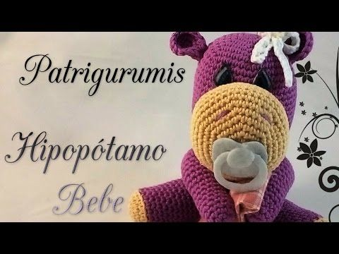 DIY Hipopótamo bebe amigurumi en ganchillo- Crochet - YouTube