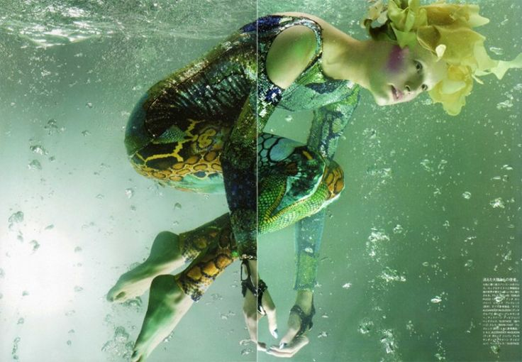 Alla Kostromicheva by Solve Sundsbo ♡: Underwater Photos, Alexander Mcqueen, Sea Creatures, Girls Generation, Fashion Photography, Vogue Nippon, Atlantis, Vogue Japan, Fashion Shoots
