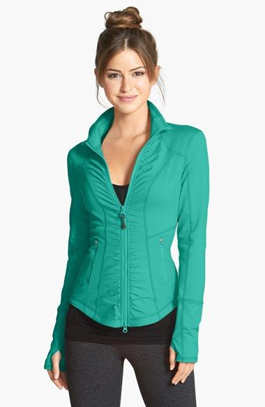 Zella 'Essential' Jacket | Nordstrom  This would never in ten trillion years fit me, but the cut and color are really cool.