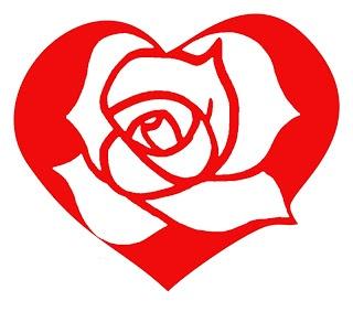 Digi-Asia: Red rose heart