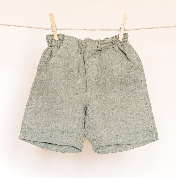 Linen shorts for baby boys or baby girls by TheElfShopDesigns