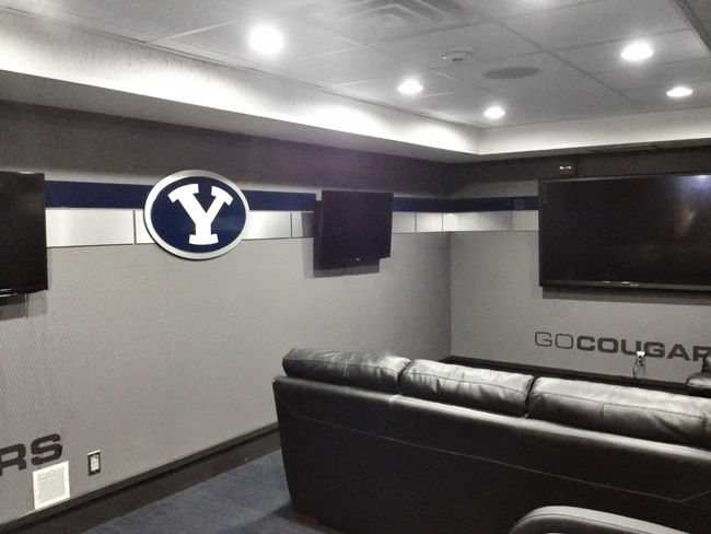 BYU Basketball Team Room By Dave Broberg