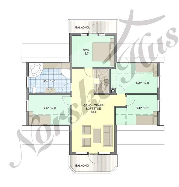 Planløsning 2.etg.:Norske Hus | Omega