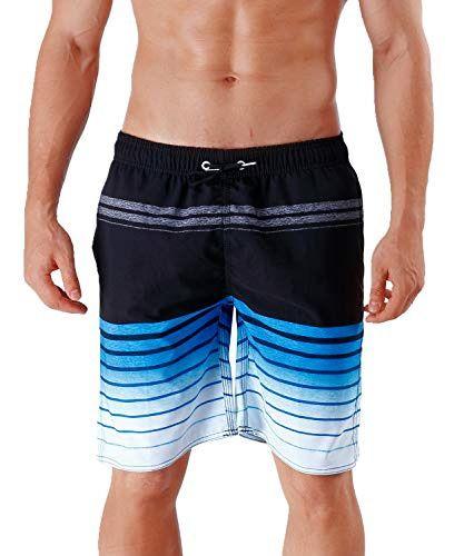 a81aed3adf Milankerr Men's Swim Trunks Black Stripe X-Large42