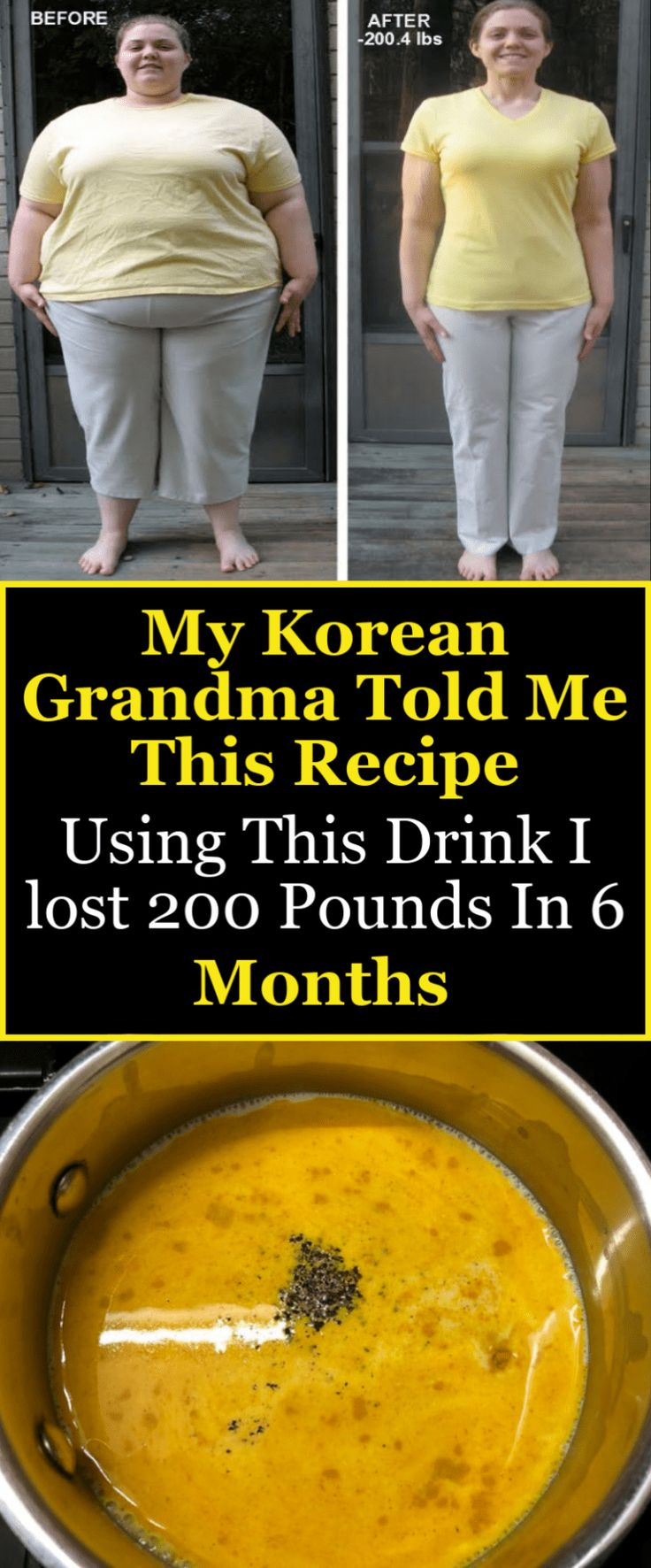My Korean Grandma Told Me This Recipe Using This Drink I lost 200 Pounds In 6 Mo…