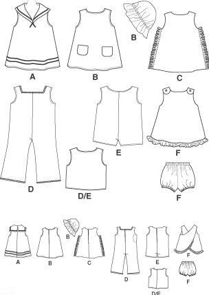 doll clothing template | Amazon.com: A Closetful of Doll Clothes (Creative Crafters