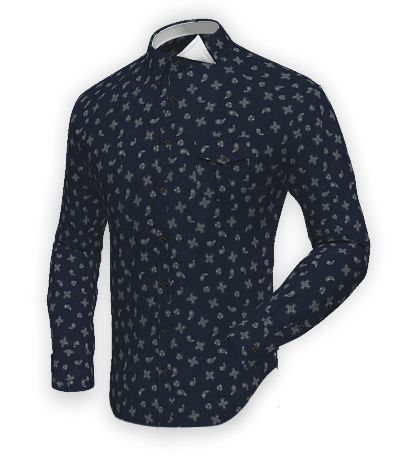 Blue flannel paisley Shirt http://www.tailor4less.com/en-us/men/shirts/2405-blue-flannel-paisley-shirt