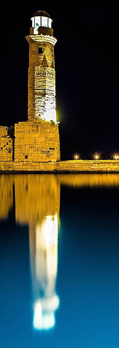 Leuchtturm Rethymno, Kreta, Griechenland