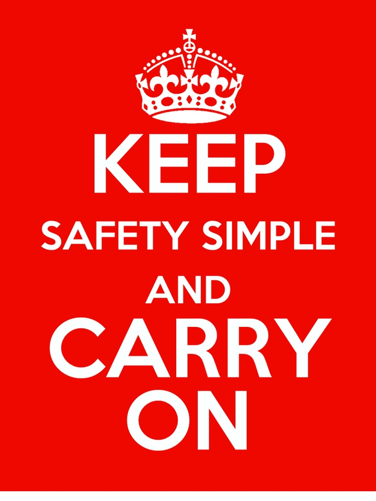 Keep Safety Simple Poster from the developers of the