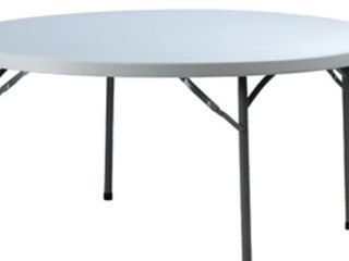 1.8 Round table $20.00  1.8m round table  High quality Blow Mould construction – very sturdy  Free delivery with any Marquee Hire