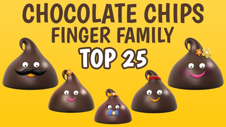Chocolate Chips Finger Family Collection | Top 25 Finger Family Collection | Finger Family Songs