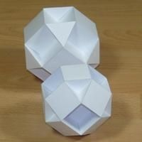 small rhombihexahedron and small cubicuboctahedron