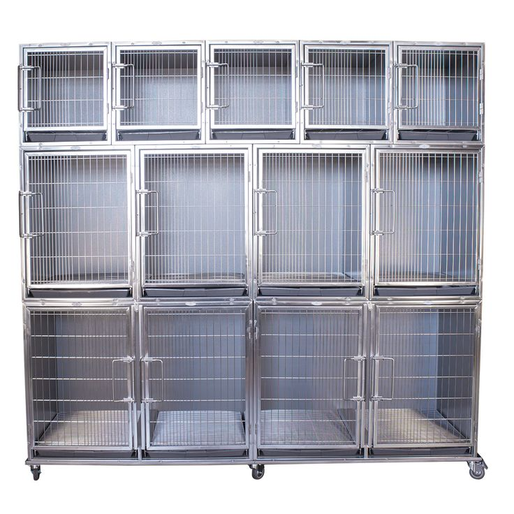 Paw Brothers Professional® Stainless Steel Modular Cage Bank Complete