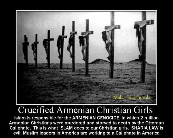 Crucified Armenian Christian Girls