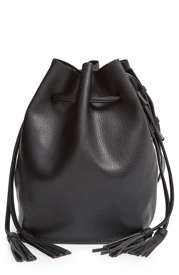 Leather Bucket / @nordstrom #nordstrom