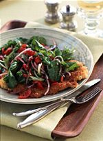Veal with Tomato and Arugula Salad, bursting with flavors and textures