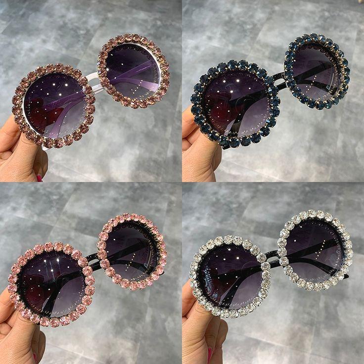 Fashion Luxury Round Sunglasses Women Vintage Oversized Rhinestone Sun Glasses Men Brand Designer Eyewear Oculos de sol UV400 [orc32965707619] – $26.41 : BuyEyesWear Sunglasses