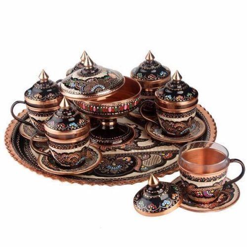 AUTHENTIQUE VINTAGE turc ottoman fait main cuivre Café et Expresso Tasse mug