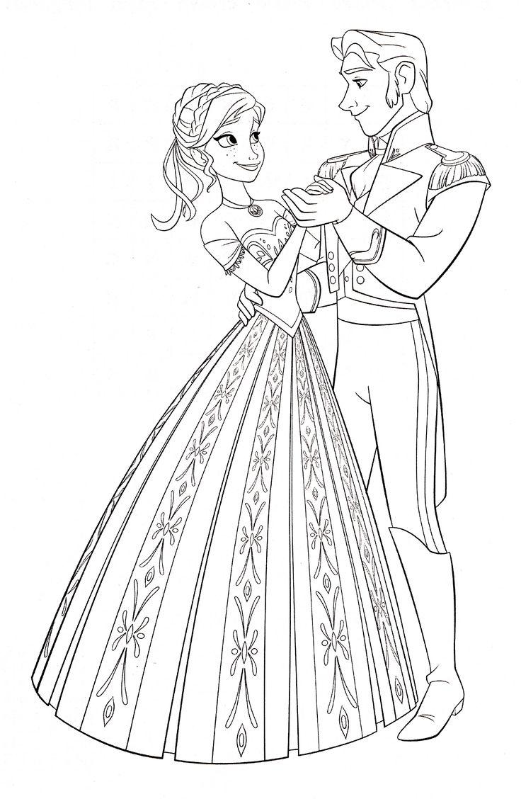 Ice princess coloring pages - Walt Disney Coloring Pages Princess Anna Prince Hans Westerguard Walt Disney Characters Photo Fanpop