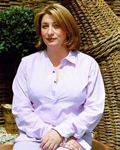 Caroline Quentin as Bella Frobisher, Caro's stepmother. Who just might be redeemed a bit in this story!