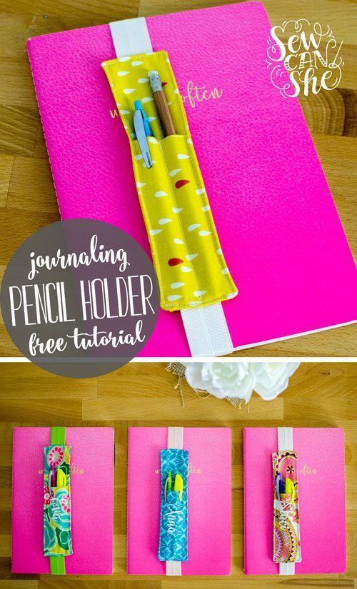 DIY-Journaling-Lesezeichen (und Bleistifthalter) kostenloses Näh-Tutorial