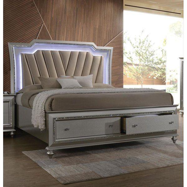Dehon Upholstered Storage Platform Bed Upholstered Storage King