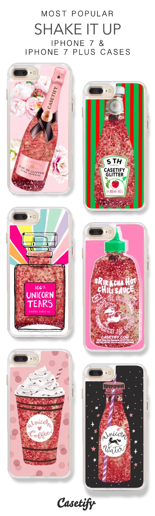Most Popular Shake it Up iPhone 7 Cases & iPhone 7 Plus Cases. More Protective Liquid Glitter Bottles iPhone case here > https://www.casetify.com/en_US/collections/iphone-7-glitter-cases#/?vc=TMBCBVtMAW