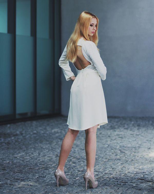 white mystery dress own design, available on www.otwieramszafe.blogspot.com   #dress #white #fashion #moda #stylizacja #inspiracja #polishdesginer #polishgirl #yolo #swag #collection #lookback #otwieramszafe #nataliagorzołka