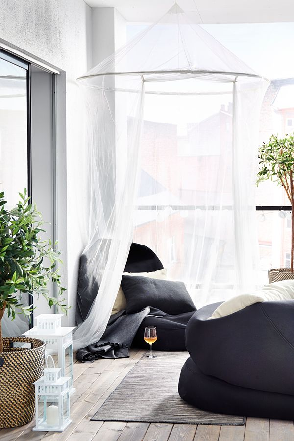 From balcony space to chill out zone.