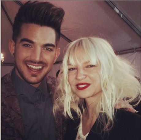 Adam Lambert with Australian star Sia 2014