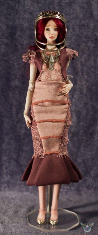 OOAK Porcelain doll Moon (Zodiac Cancer), Ball jointed doll,InspireDoll