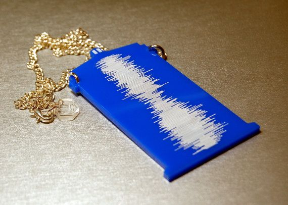 Doctor Who TARDIS Sound Wave Necklace by ChimericGarnish on Etsy