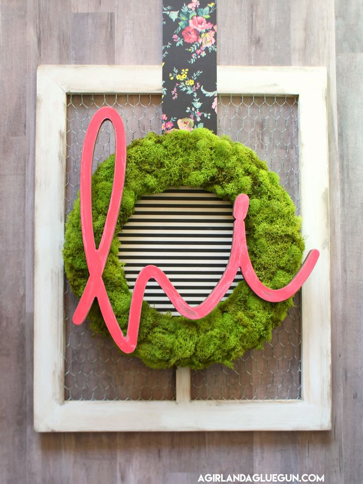 How to jazz up a wreath using stuff from @HobbyLobby  4 fun ways! Love the flower version! Perfect for spring!  #ad #hobbylobbystyle #hobbylobbymade