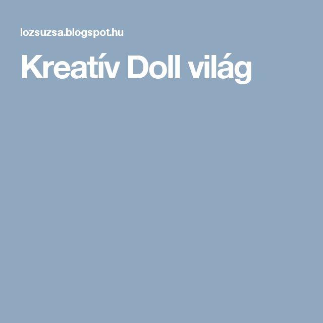 Kreatív Doll világ